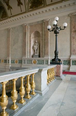 stair well: Engineers Castle (Mikhailovsky Castle) interior The Mikhailovsky (St. Michaels) Castle interior