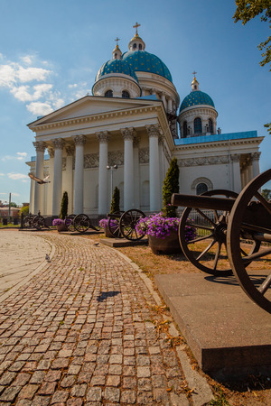 vasily: Trinity Cathedral, Saint Petersburg sometimes called the Troitsky Cathedral, in Saint Petersburg, Russia, is a late example of the Empire style, built between 1828 and 1835 to a design by Vasily Stasov. Stock Photo