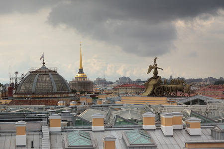 chariot: Roofs of Saint Petersburg. Admiralty, the chariot on the arch of the General Staff.