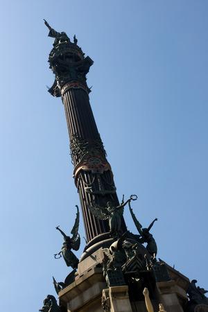 descubridor: BARCELONA, ESPAÑA - 05 de agosto: Monumento a Colón o Columbus Editorial