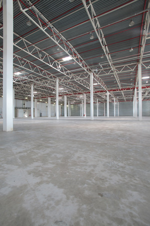 depository: Interior of a modern warehouse ,clean and empty
