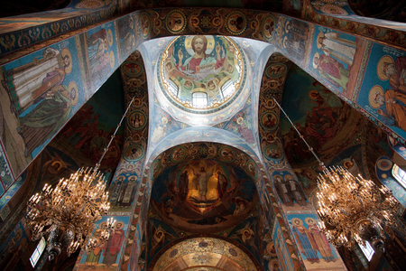 places of interest: Church of the Savior on Blood. Interiors.
