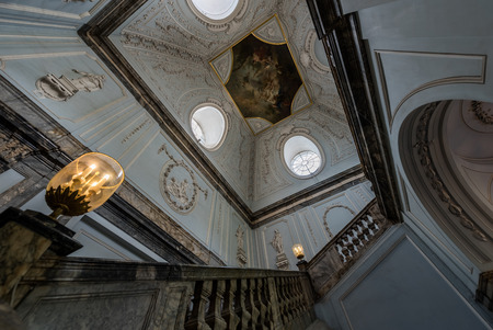 marble palace: Saint-Petersburg, RUSSIA - July 16 2015. The main staircase of the marble palace on Jul 16, 2015 in Saint-Petersburg.