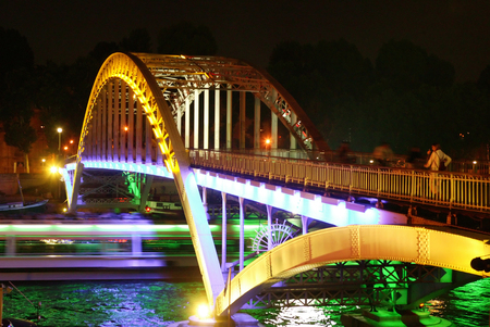 irradiation: night bridge