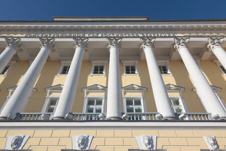 synod: The buildings of the Senate and Synod in St. Petersburg. Constitutional Court of Russia. Stock Photo