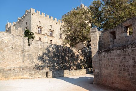 the renaissance: Fortification walls outside Rhodes