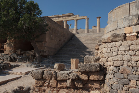 building structures: Acropoli Lindos - Rhodes Greece