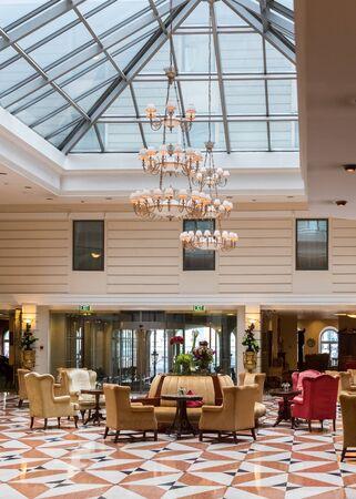 cultural history: November 16 2015 : Saint Petersburg, Russia -   Kempinski Hotels interior. Editorial