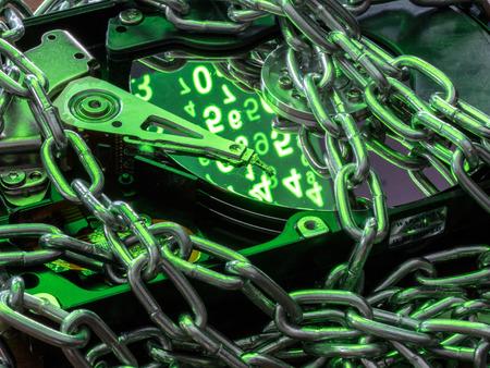 Computer hard disk (hard drive).