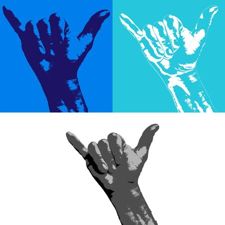 siervo: hand serf Vectores