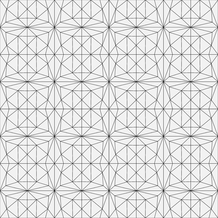 Modern geometric pattern. An abstract pattern made of thin lines. Illustration