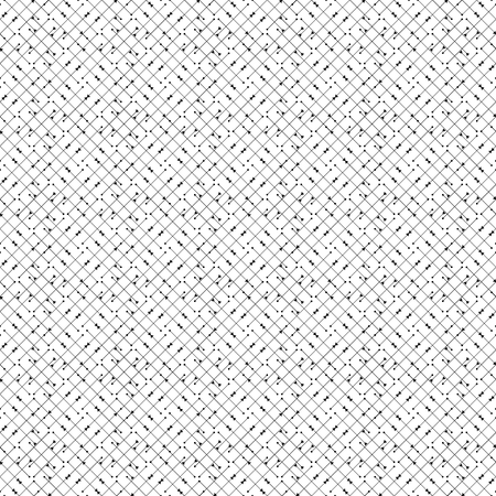 Vector seamless pattern. Modern stylish texture. Repeating geometric background with thin line and nodes from circles and triangle variously sized in nodes.