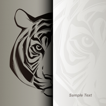 Tête de tigre illustration Banque d'images - 24958714