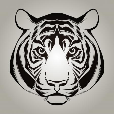 silueta tigre: Ilustraci�n Cabeza de tigre Vectores