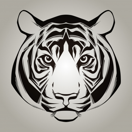bengal: Tiger head illustration