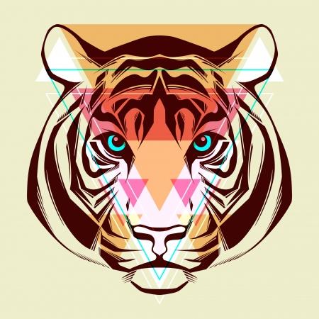 tigre caricatura: Ilustraci�n Tigre Moda
