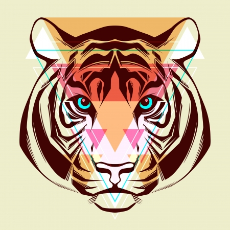 siberian tiger: Tiger  Fashion illustration