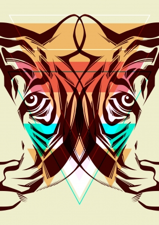 Tiger  Fashion illustration  Vector