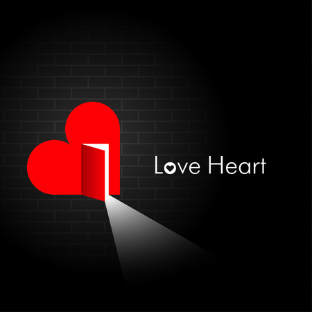 Love Heart  Creative illustration  Vector
