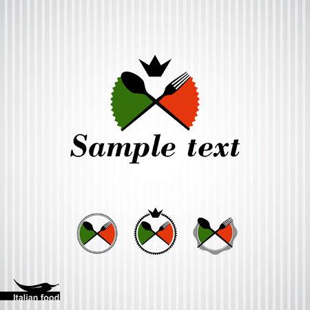 Pizza  Italian cuisine  Template design  Vector