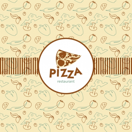 Menu design pizzeria  Vector