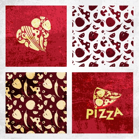 Pizza symbol and pattern  Vector