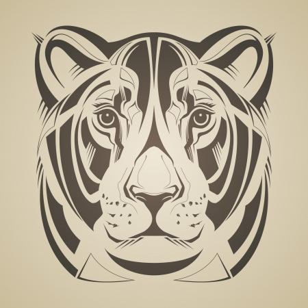 görüntü: Lioness baş vektör illüstrasyon