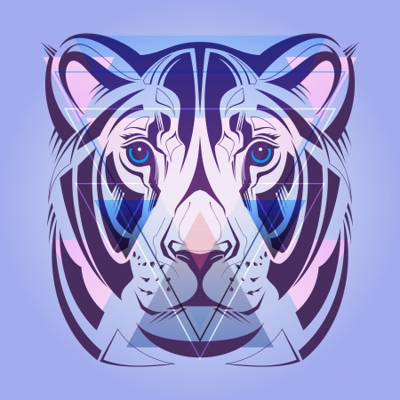 Lioness  Hipster style  Vector   Stock Vector - 25198693