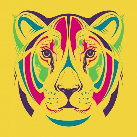 silueta tigre: Ilustraci�n de la manera de la leona