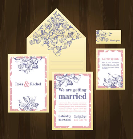 decoracion boda: Conjunto de invitaciones de boda