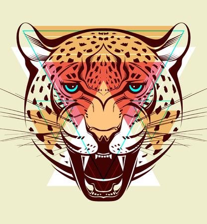 illustrazione moda: Angry leopardo Fashion illustration