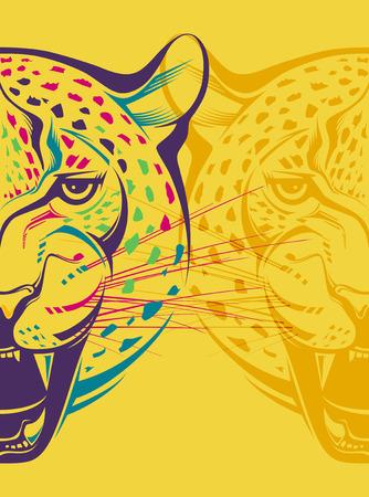 grin: Creative illustration grin leopard Illustration