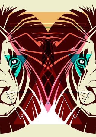 illustrazione moda: Lion Illustrazione di moda Vettoriali