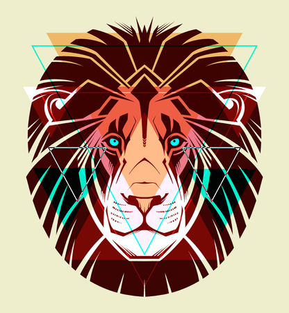 Lion  Fashion illustration  Ilustracja