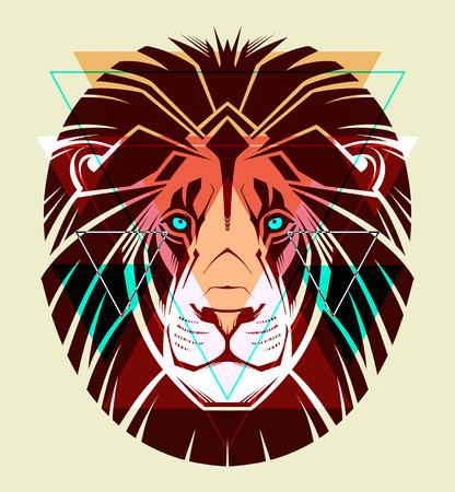 lion dessin: Lion illustration de mode Illustration