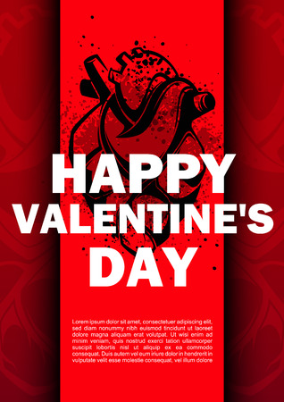 thrash: Happy valentines day cards with anatomical heart