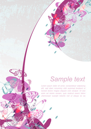 imaginative: Abstract Butterfly Background