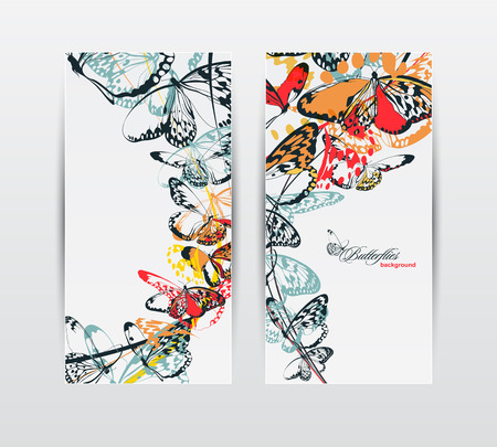 Butterfly banners  Illustration
