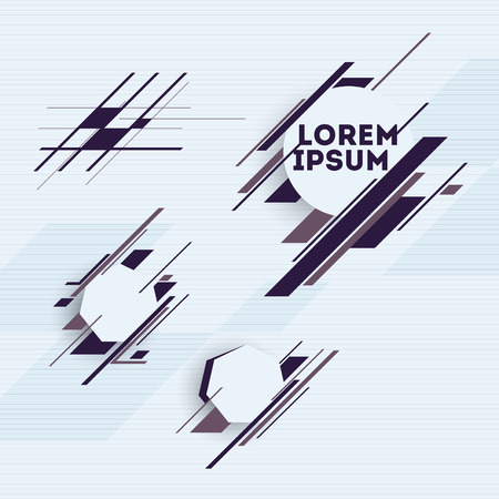 Design elements with abstract geometric forms  Vector