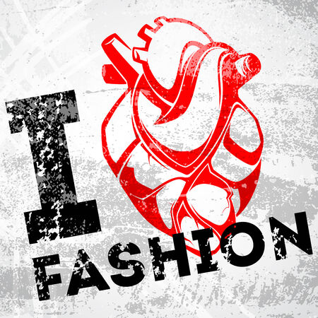 fashion week: I love fashion  Illustration