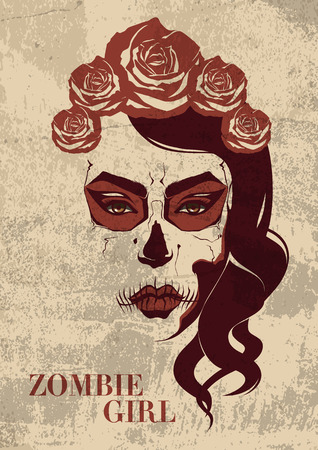 zombie girl  Vector