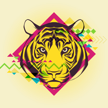 Creative illustration of a tiger  Vector