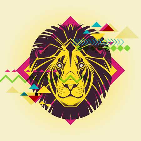 Creative illustration of a lion  Vector