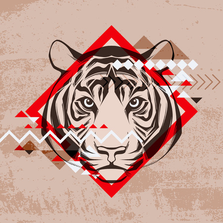 Fashion vector illustration of a tiger s head  Vector