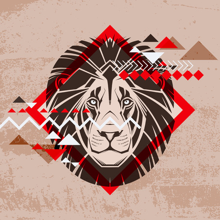 Fashion vector illustration of a lion s head  Vector