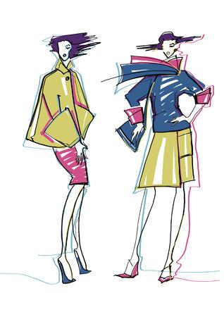 models: Fashion models  Sketch  Illustration