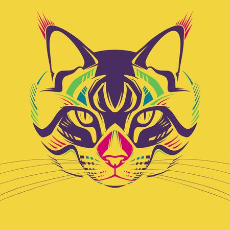 purr: Creative illustration of a cat Illustration