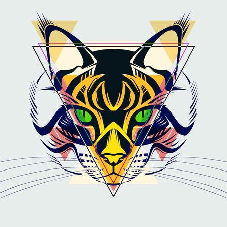 illustrazione moda: Illustrazione di moda di cat.