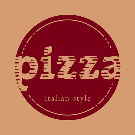 Vintage pizza sign Vector