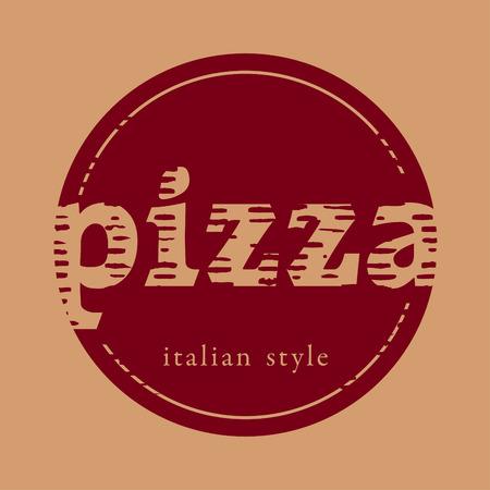Vintage signe de pizza Banque d'images - 34833180